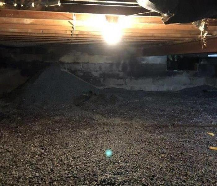 Empty crawlspace under the home